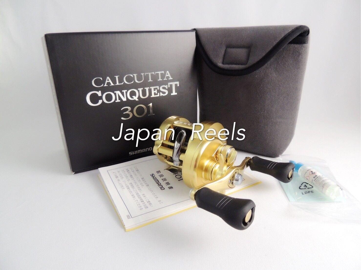 NEW SHIMANO 18 CALCUTTA CONQUEST 301 LEFT HANDLE REEL 1-3 DAYS FAST DELIVERY