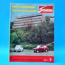 Der Deutsche Straßenverkehr 7/1974 Polski Fiat 126 MZ Saporoshez 968 Trabant C
