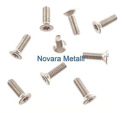100 microviti TORX testa cilindrica M2x8 viti screws vis Schrauben Tornillos