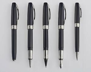 Details About Visconti Michelangelo Deep Blue Black Ballpoint Pen Mib