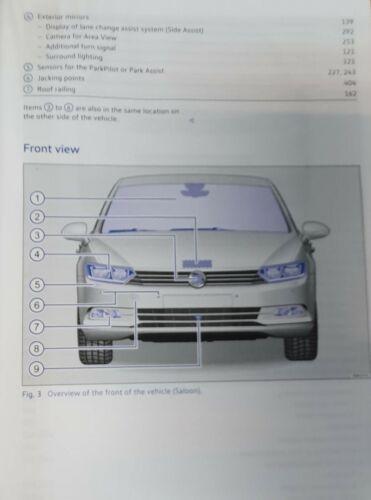 VW PASSAT SALOON B8 ESTATE 2015-2019 OWNERS MANUAL HANDBOOK WALLET PACK O-229