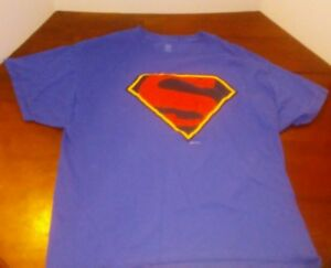 Image Is Loading Clic Superman Logo T Shirt Color Royal Blue