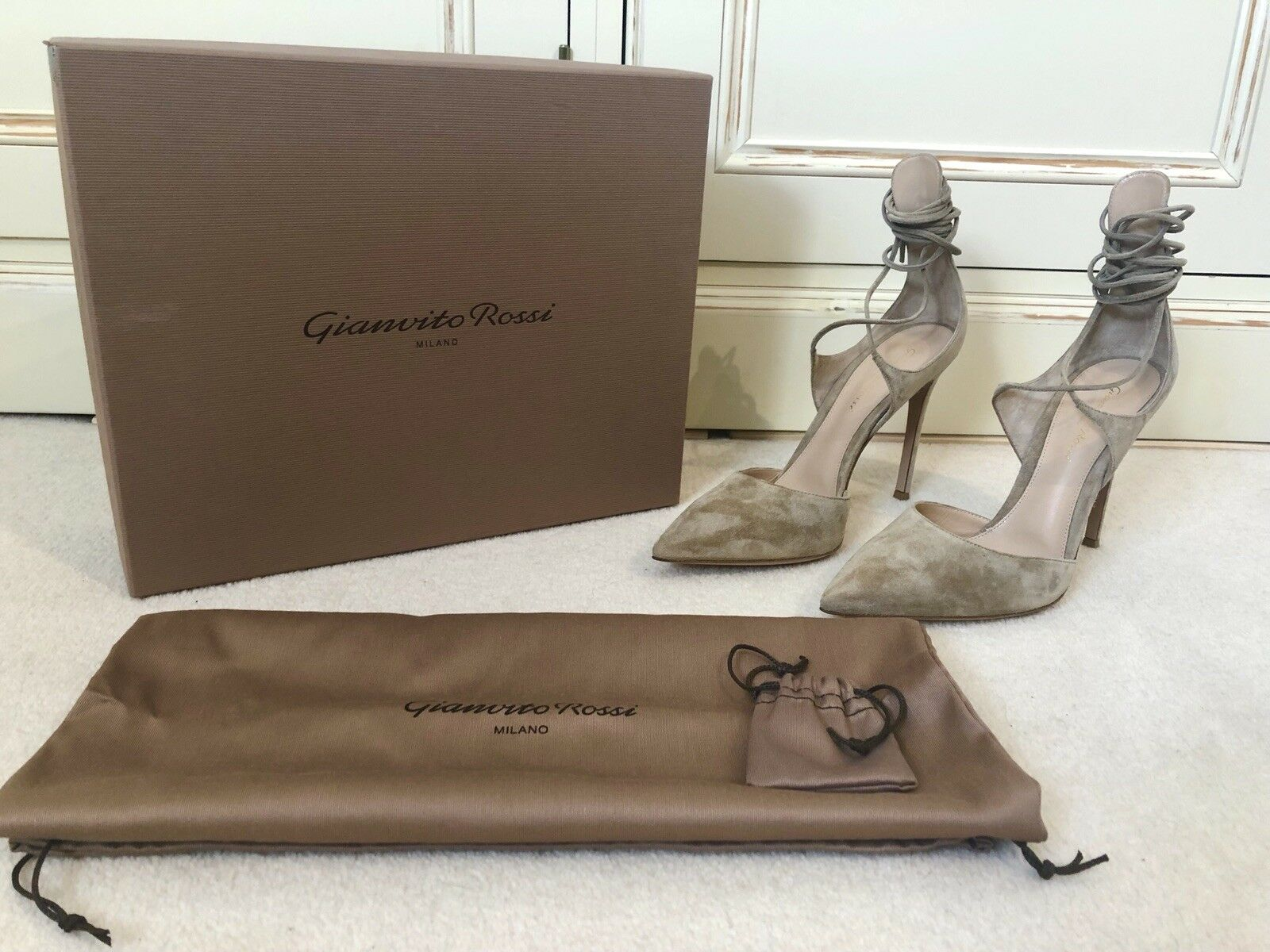 Gianvito  Rossi Antonia Sue Lace Su Pump Heels BNWB UK6.5 EU39.5  distribuzione globale