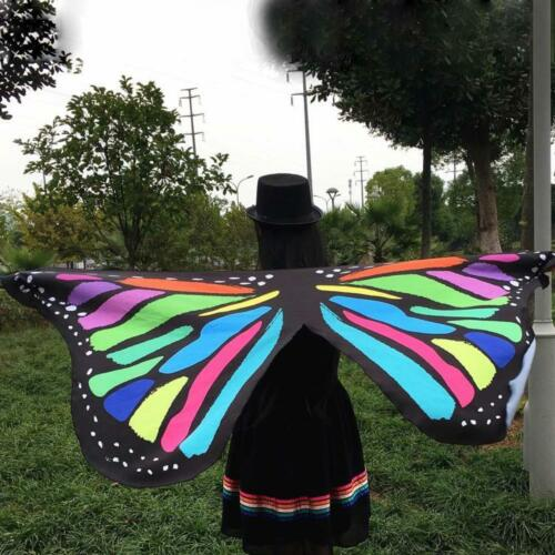 Summer Soft Fabric Butterfly Wings Fairy Nymph Pixie Party Costume Accessory
