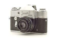 ▶ Zenit-3 35mm film SLR Camera USSR with Industar-50-2  lens ANTIQUE LOOK! 1961