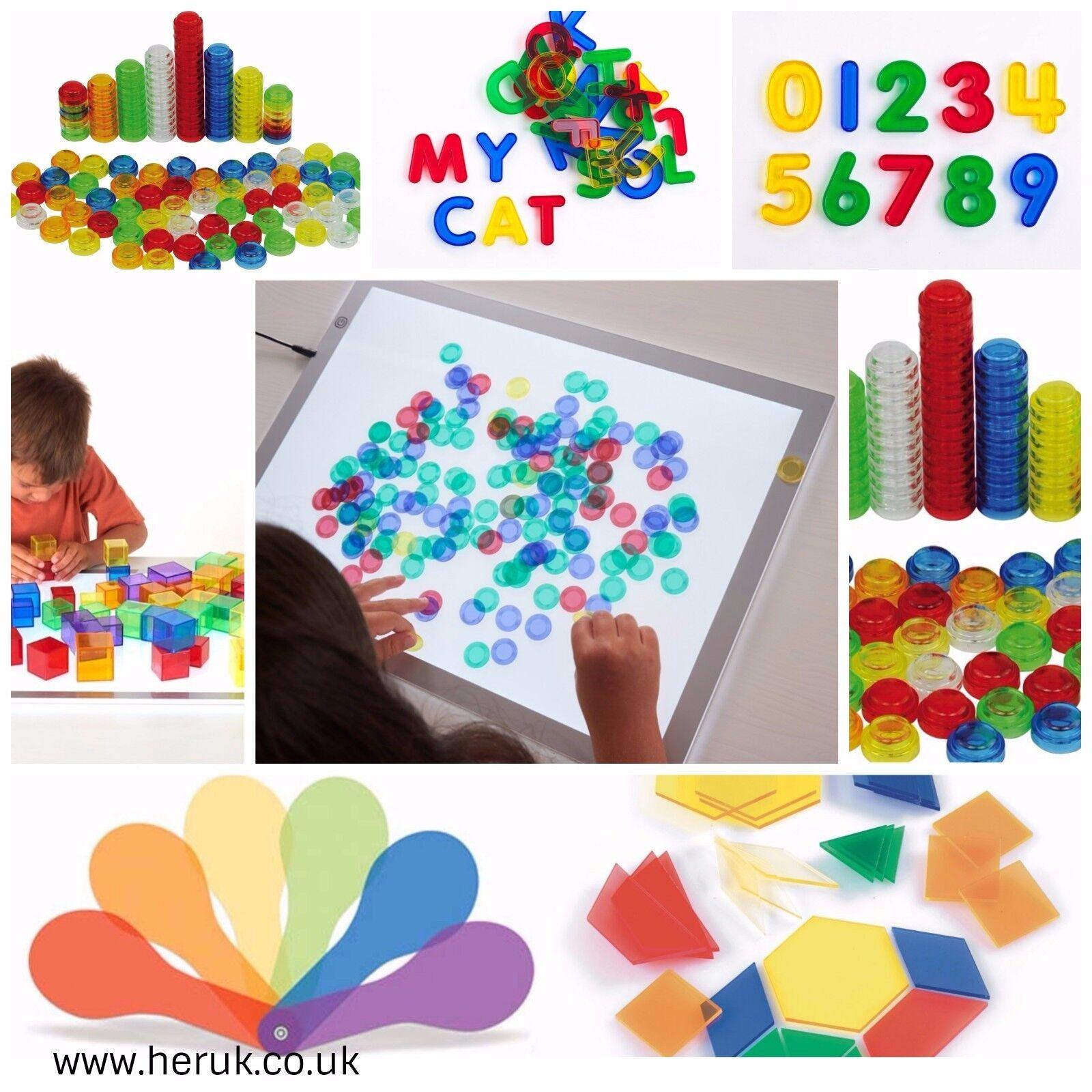 Light table box sensory accessories  SEN Special Needs, Autism numbers alphabet