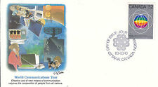 Canada FDC Sc # 976 World Comunications Year with Fleetwood cachet- WW 7303