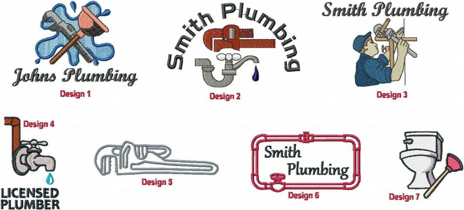 6 Shirts Embroidered Free 4Ur Plumbing Business HVAC Company