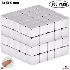 100pcs Tiny Strong 4x4x4mm Multi Use Neodymium N35 Cube Small Magnets Proyects