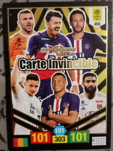 Panini-card-invincible-468-new-rare-adrenalyn-xl-2019-20-mbappe-neymar