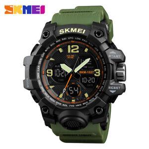 SKMEI-Men-Military-Army-Sport-Analog-Digital-LED-Watch-Waterproof-Tactical-Watch