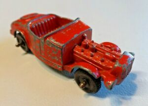 """Vintage TootsieToy Model B Red Diecast Toy Car 3"""" Long Made in U.S.A."""