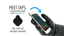 Nanotips TAPS Touchscreen Motorcycle Glove Stickers w/ Unique Fingerprint ID