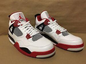 252655be4838 308497-110 Air Jordan 4 Retro White Varsity Red-Black Size 10.5 2012 ...