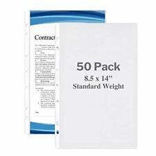 Dunwell Legal Size Sheet Protector Standard Weight 50 Pack 85x14 Legal Pa