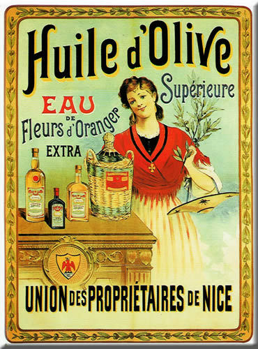 Superoir Huile d Olive Oil French Advertising Sign