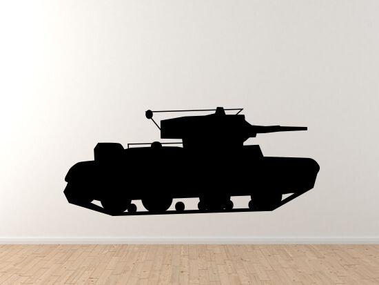 World War 2 II - Tank Version 6 - Classic Military Armor- Vinyl Wand Decal