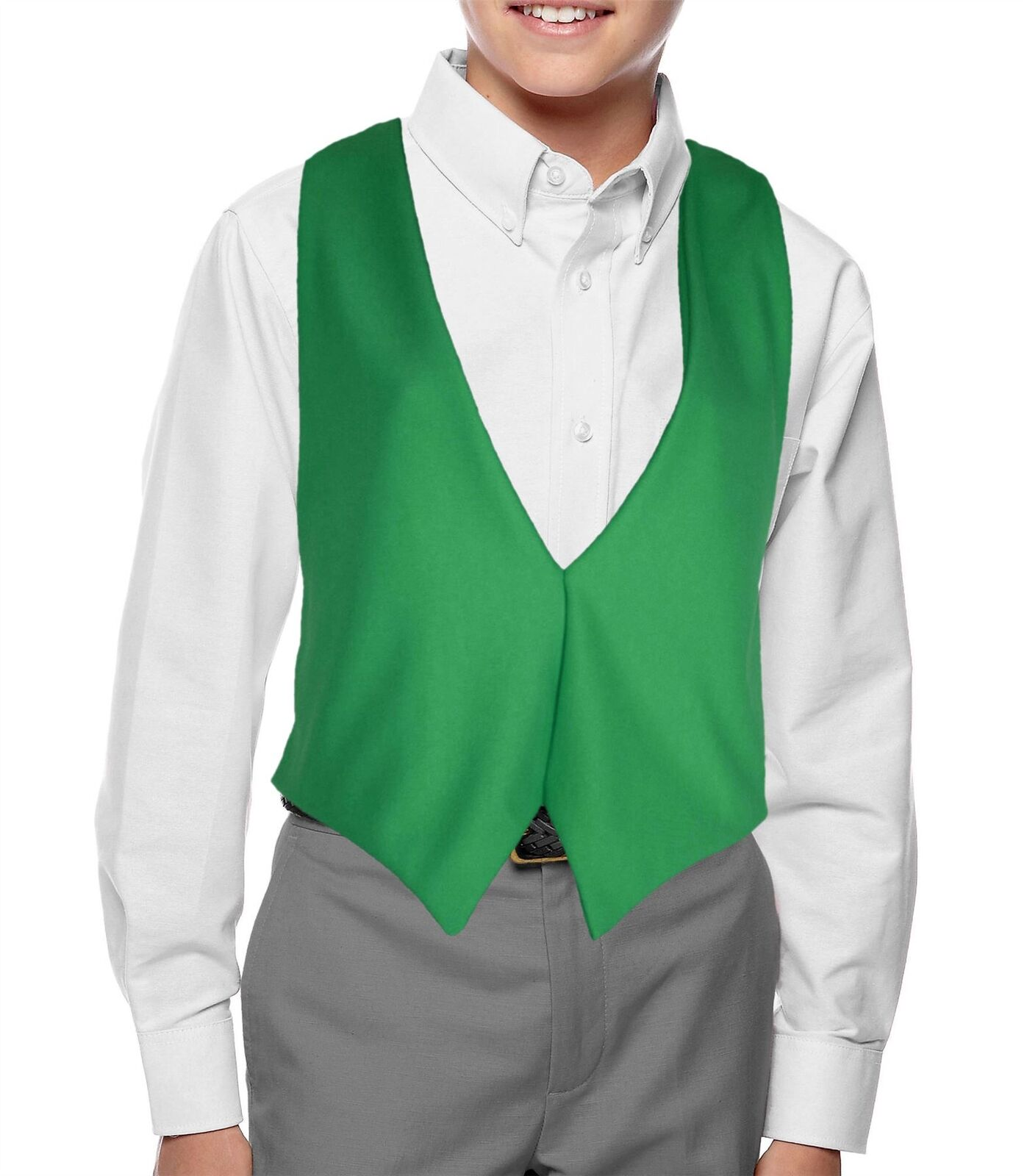 Childs Emerald Green Ireland Waistcoat Kids St Patrick Irish Fancy Dress