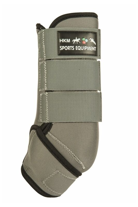 Neoprengamaschen Colour HKM grey black NEU