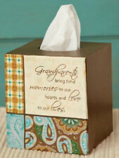 GRANDPARENTS Bring Strong Memories Bathroom Tissue Box Cover, Square
