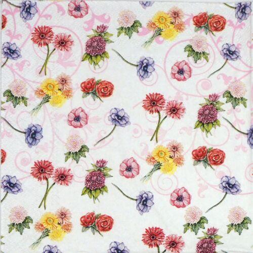 Decoupage Decopatch 4x Paper Napkins Flower Festival for Party