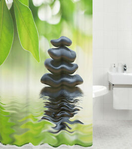 duschvorhang textil anti schimmel effekt wannenvorhang badewannenvorhang harmony ebay. Black Bedroom Furniture Sets. Home Design Ideas