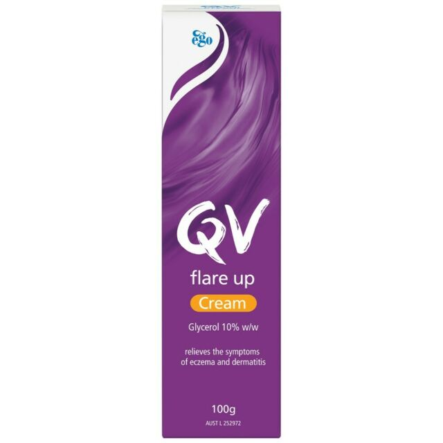 Ego QV Cream Flare Up Cream 100g Relieves the Symptoms of Eczema & Dermatits