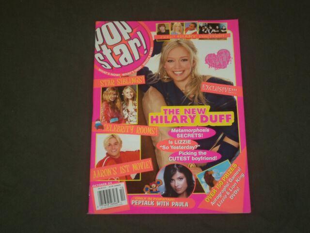 2003 OCTOBER POP STAR MAGAZINE
