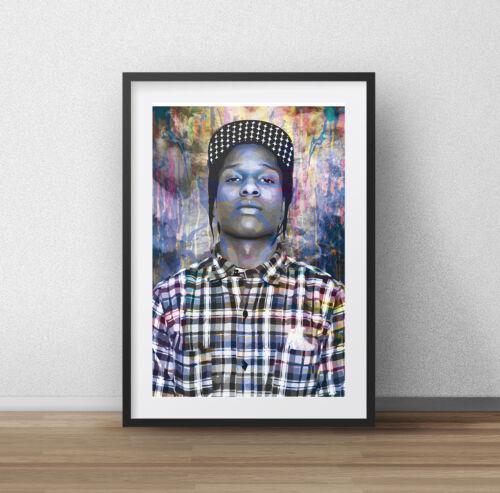 WALL DECOR ART PRINT A4 A1 ASAP ROCKY American Hip Hop ARTIST GIFT A3 A2