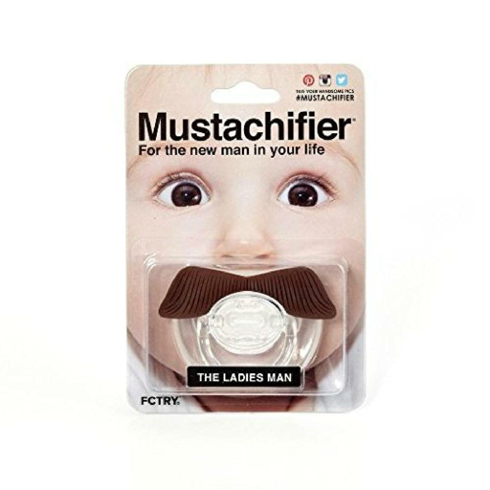 Mustachifier The Ladies Man Baby Mustache Pacifier Binkie Silicone BPA Free