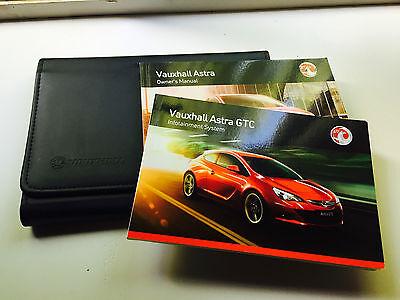VXR Owners manual handbook VAUXHALL ASTRA GTC audio Pack Brand Genuine