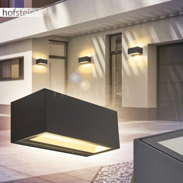 Außen Leuchte ALU Garten Einfahrt Beleuchtung Wand Lampe Strahler verstellbar