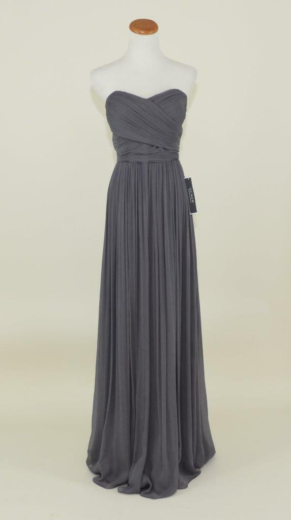 J. Crew Silk Chiffon Arabelle Gown 6 Smoky Charcoal Grey Dress 41367 ...