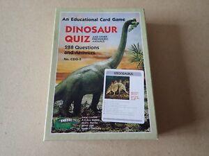 Fringant Dinosaure Quiz An Educational Jeu De Carte Animaux Préhistoriques-safari Ltd Usa:-afficher Le Titre D'origine Soulager Le Rhumatisme Et Le Froid
