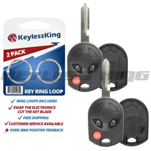 2x Fits Ford Lincoln  Remote Key Shell Case OUCD6000022