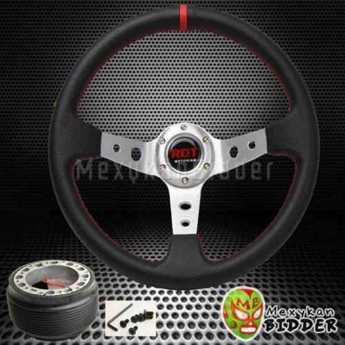 Hub Adapter Civic 92-95 350mm Black//Polished Drifting Deep Dish Steering Wheel