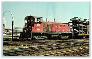 POSTCARD Terminal Railroad Association of St Louis Unit Number 1507 Train