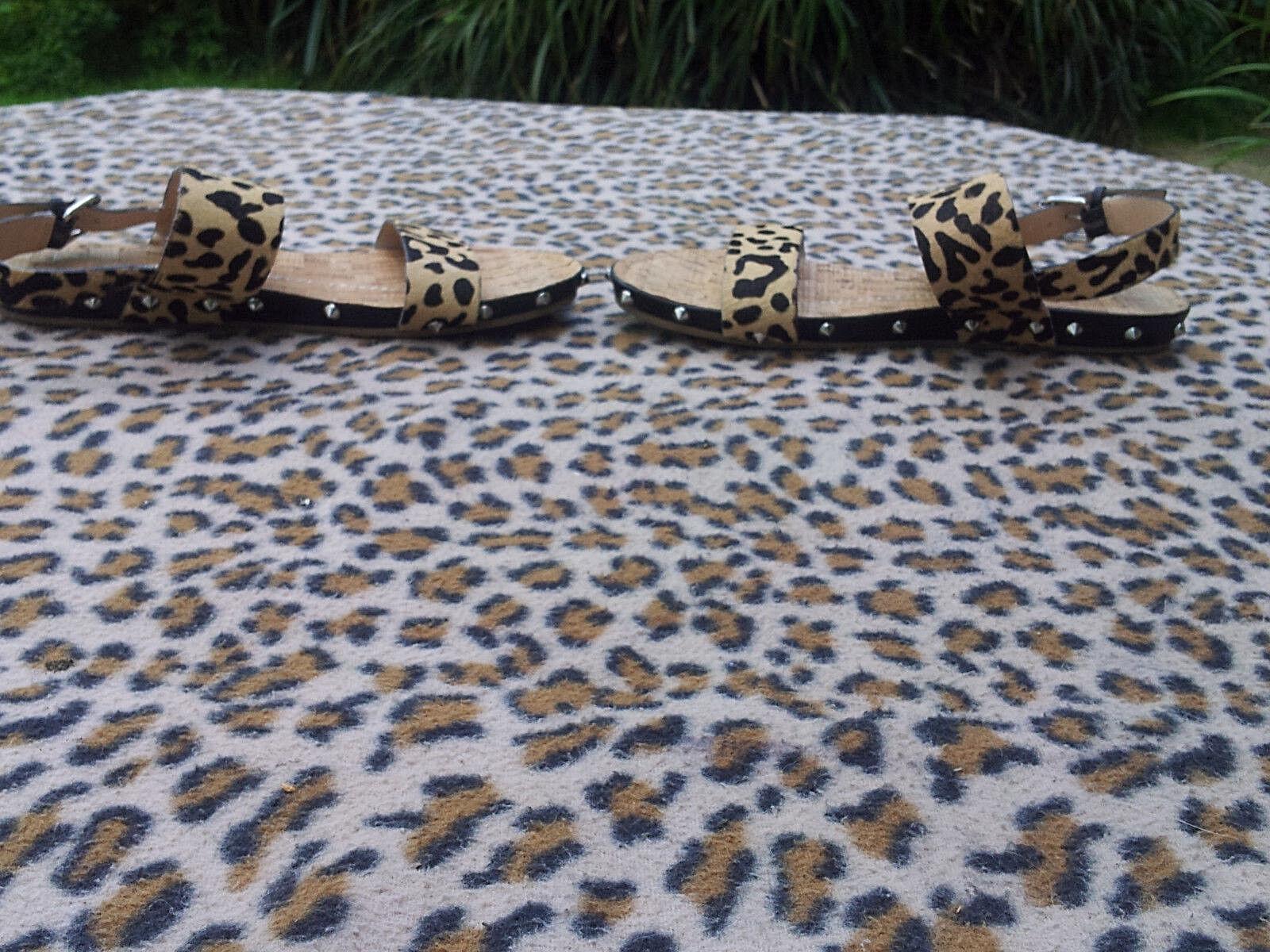 Dv Dolce  Vita real fur Animal  Dolce  leopard print Sandales  UK 4.5 EU 37.5 ba78a4