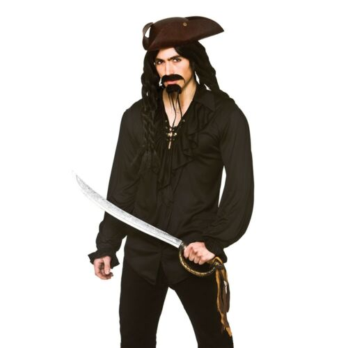 Adults Caribbean Pirate Shirt Buccaneer Pirates Fancy Dress Ruffle Shirt Mens
