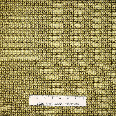 Benartex YARD Civil War Era 1855-1870 Kirk Yellow Plaid Calico Fabric
