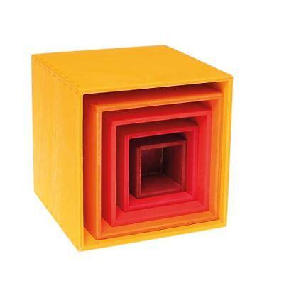 Grimm's Gioco E Legno Design 100560 - Piccolo Kistensatz Giallo 5 Pezzi Nuovo