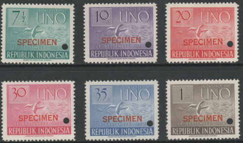 Indonesia 1393 1951 United Nations FILE COPY SPECIMEN set unmounted mint