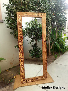 Large Wood Mirror Full Length Mirror Floor Mirror Reclaimed Wood