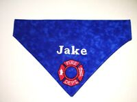 Maltese Cross Fire Fighter Personalized Custom Embroidered Dog Bandana