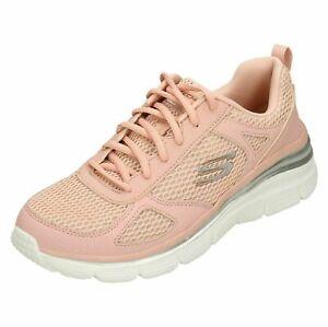 ladies pink skechers trainers