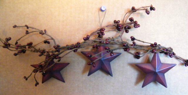 Lg Primitive Stencil Family Rustic Country Pip Berry Twig Barn Star Garland Sign
