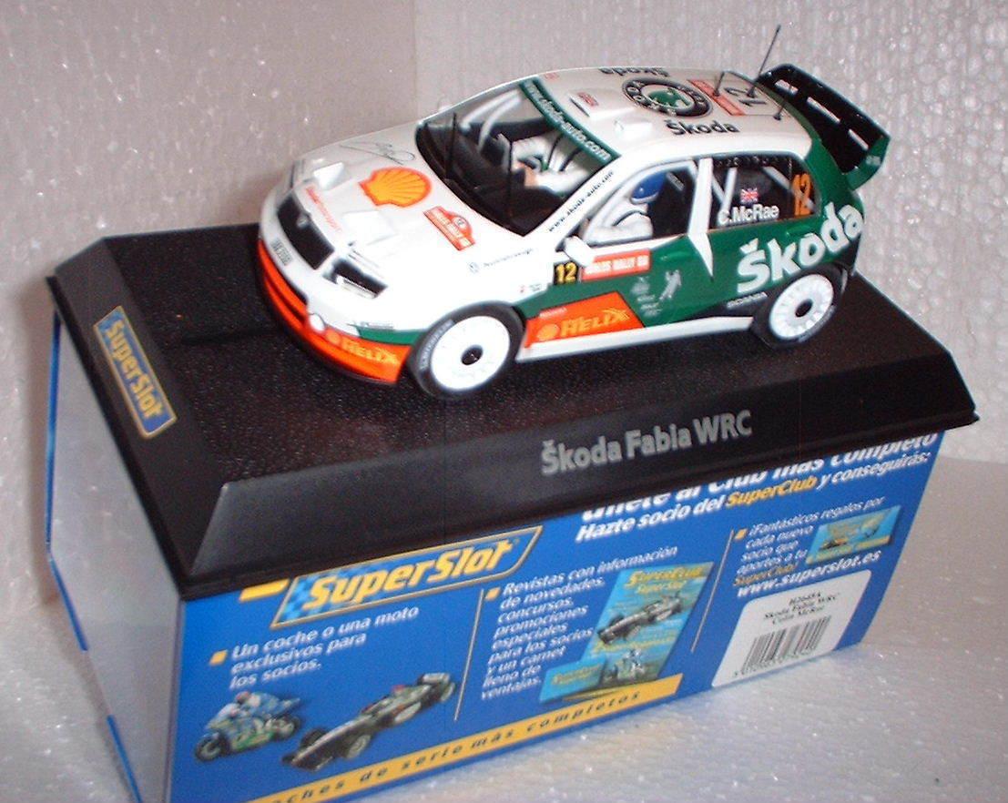 Qq H2645A SUPERSLOT GALLES DEL SKODA FABIA WRC RALLY GB   12 COLIN Mr RAE SIGNED
