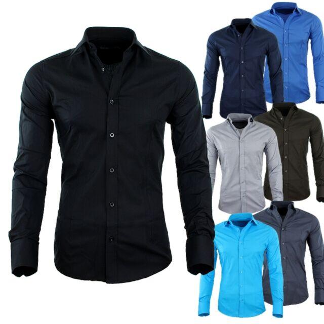 RBC Redbridge by CIPO & BAXX Slim Fit Hemd Polo Shirt Kentkragen Polo R-2116 NEU