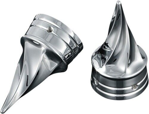 Kuryakyn 1219 Twisted Front Axle Nut Covers 3in Long Harley Models 2002-2015