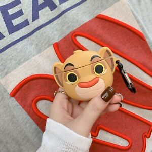 Apple Airpods Charging Case Cute Simba The King Lion Silicone Earphone Cover Bag Ebay